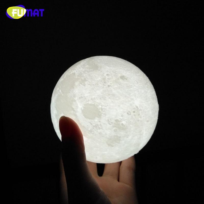 Mēness lukturis FUMAT 3D Print ar skārienjūtīgu slēdzi 3D - Nakts gaismas - Foto 3