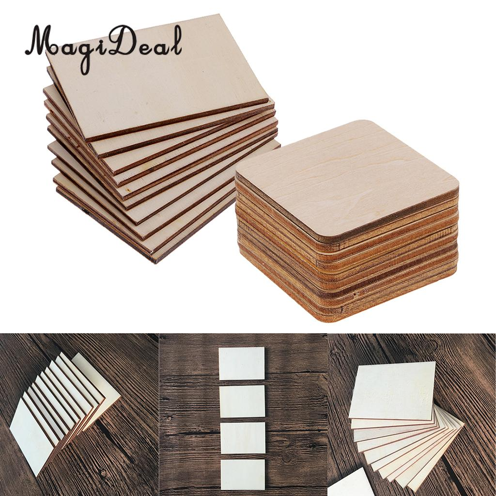 Arts,crafts & Sewing Wood Diy Crafts Sporting Model Pyrography Projects Games Blank Plaque Unfinished Square Wood Pieces Diy Craft Square Basswood Scrapbooking 5 Sizes