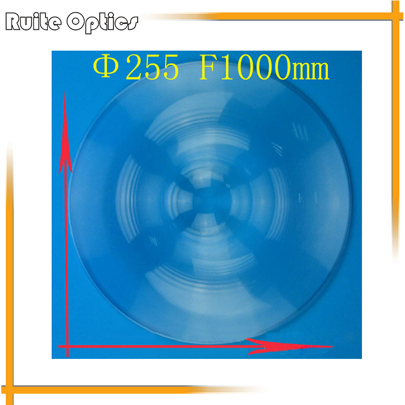 255mm Diameter Round Acrylic Plastic Fresnel Condensing Lens Large Focal Length 1000mm for Plane Magnifier,Solar Concentrator 1pc 520mm big pmma plastic solar fresnel condensing lens focal length 620mm for plane magnifier large solar concentrator lens
