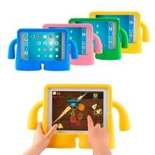 1 unid Kids Funda Gruesa de Espuma A Prueba de Golpes de Silicona Suave Manija del Caso del soporte Para el ipad mini 2 mini caso caja para los niños