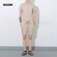Summer 2016 New Men One Piece Rompers Shorts Men Fashion Casual Short Sleeve Tees Shirt Jumpsuits