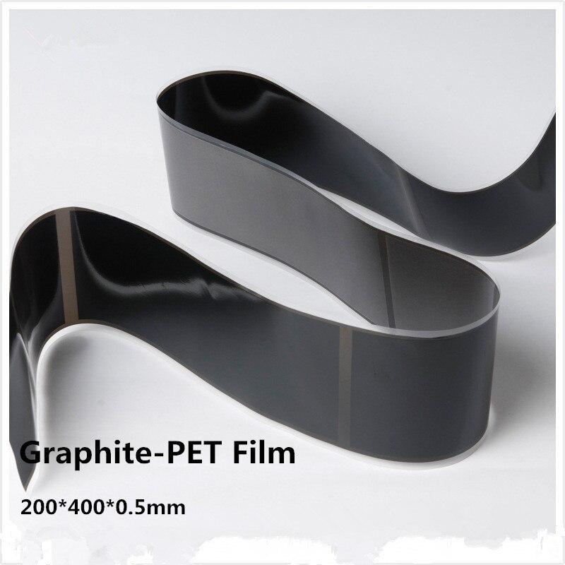 Láminas de grafito Flexible de grado Industrial de 200x400x0,5mm (unión adhesiva única), 2 uds envío gratis