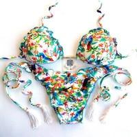 QI DIAN Hot Sexy Cross Brazilian Bikinis Women Swimwear Beach Bathing Suit Push Up Bikini Set
