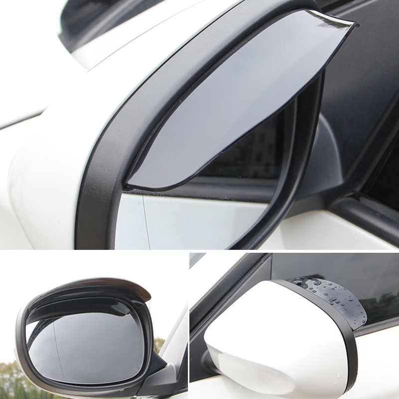 2 uds coche de PVC de coches adhesivo de espejo retrovisor lluvia CEJA para BMW E46 E90 E60 E39 E36 F30 F10 F20 X5 E53 E70 E30 M E87 G30 E34 E92 E91