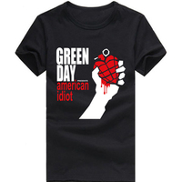 Green Day T Shirt Green Day American Idiot Funny Printed Short Sleeve T Shirts USA Size
