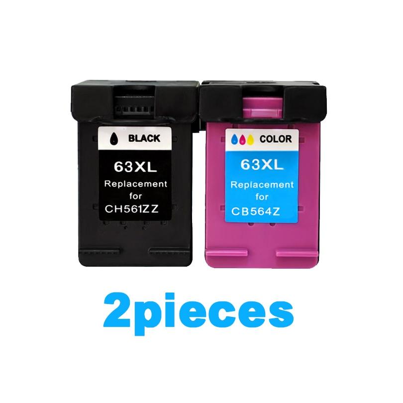 XiongCai cartucce di Inchiostro compatibili Per HP63 Per HP 63 XL Deskjet 1110 1111 1112 2130 2131 2132 3630 4250 stampante cartuccia 63XL