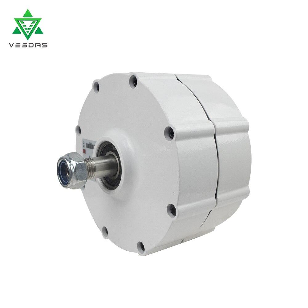 Alternateur à ca de générateur d'aimant Permanent de 600 W 12 V ou 24 V ou 48 V 600r/m pour l'éolienne verticale ou horizontale