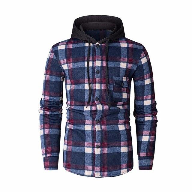 ZOGAA New Style Hoodies Men Plaid Hoodie Fashion Streetwear Hoody Sweatshirt For Men Clothing 2018 Long Sleeve Hooded Top 2