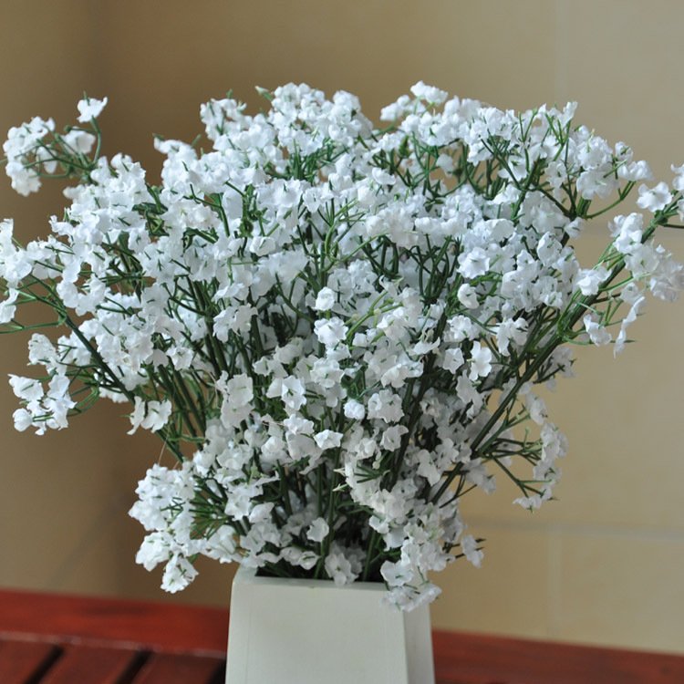 cheap rustic style 2 forks silk flower bouquet for wedding home decoration garden decorchina - Silk Arrangements For Home Decor 2