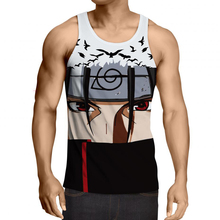 2017 New Arrival Anime Clothing For Men Hipster 3d Naruto Tank Top Vest Bodybuilding Fitness Men's Casual Tank Top Clothes R2967