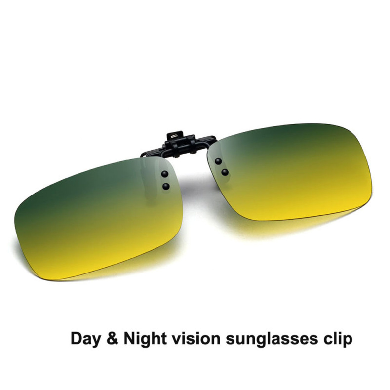 5d0243f223 Day   night vision sunglasses clipped Polarized Sunglasses Clip on Myopia  Glasses For Driving Traveling Flip Up Sunglass Oculos