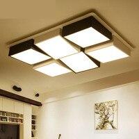 Офисные светодиодный потолочный светильник Гостиная прямоугольная спальня Потолочные светильники творческий светодиодный освещение пот