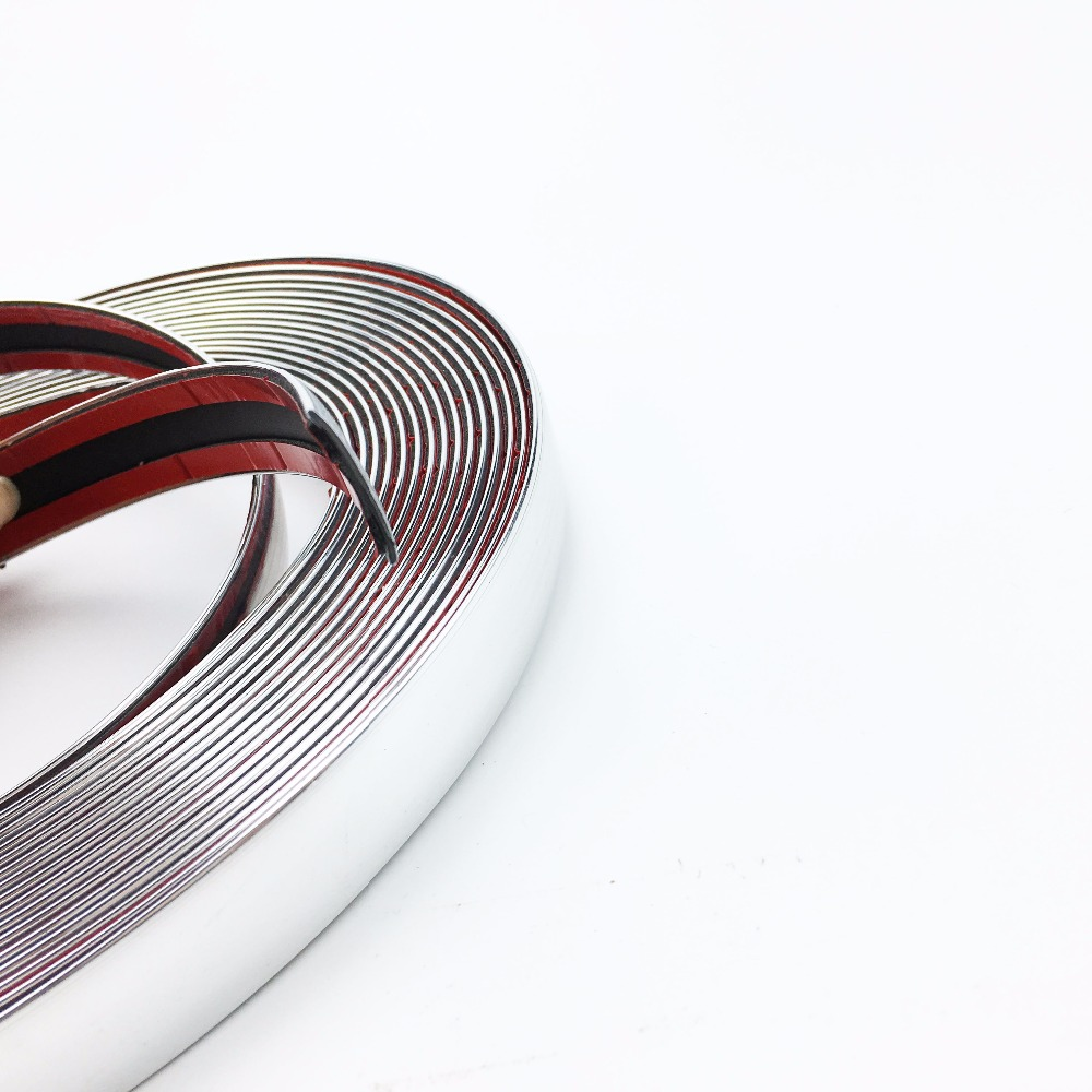 Image 4 - Car Chrome Decor Strip Sticker Silver Auto Styling Trim Strip Interior Exterior Decoration 6mm/8mm/10mm/15mm/20mm/22mm/25mm/30mm-in Car Stickers from Automobiles & Motorcycles