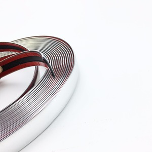 Image 4 - Car Chrome Decor Strip Sticker Silver Auto Styling Trim Strip Interior Exterior Decoration 6mm/8mm/10mm/15mm/20mm/22mm/25mm/30mm