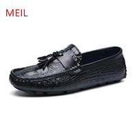 2018 Spring Men Shoes Casual Tassel Loafers Soft Light Slip On Male Driving Doug Shoes Genuine