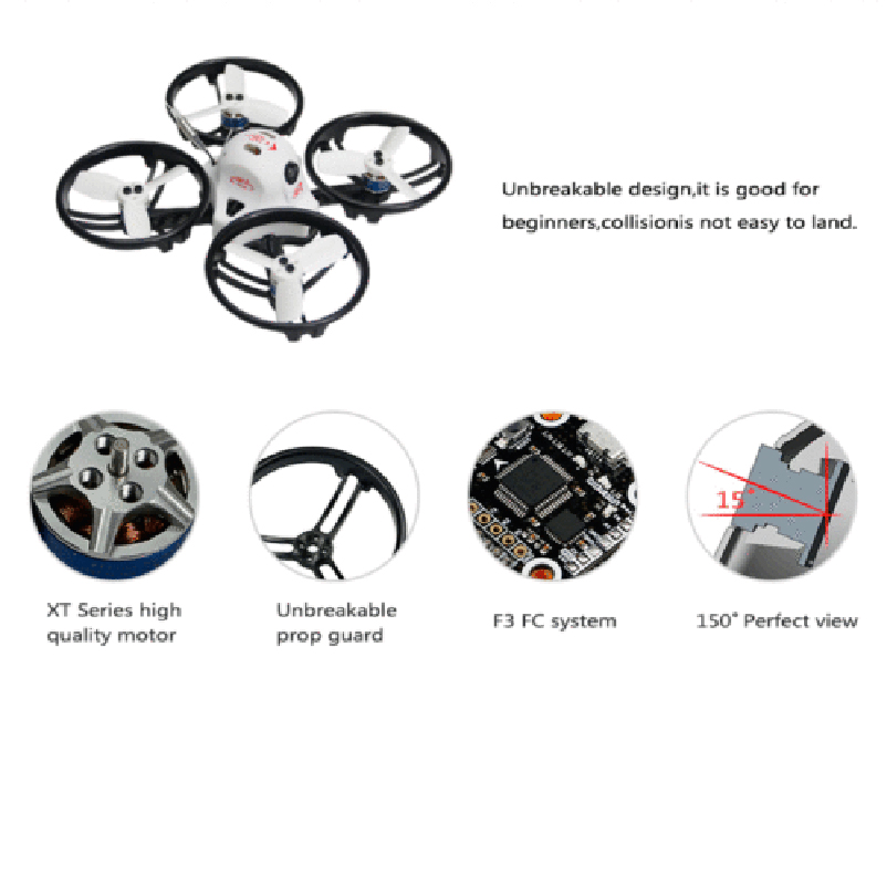 RC Racing Drone KINGKONG ET100 PNP Brushless FPV Mini Quadcopter with Receiver mini 90gt pnp 4ch brushless drone fpv 800tvl camera rc racing with frsky ac800 receiver brushless kingkong quadcopter f19933