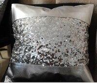 Biancheria da letto di lusso dell'unità di elaborazione & sequin patchwork cuscino divano car ornamento argento/nero/rosso/giallo/viola commercio all'ingrosso