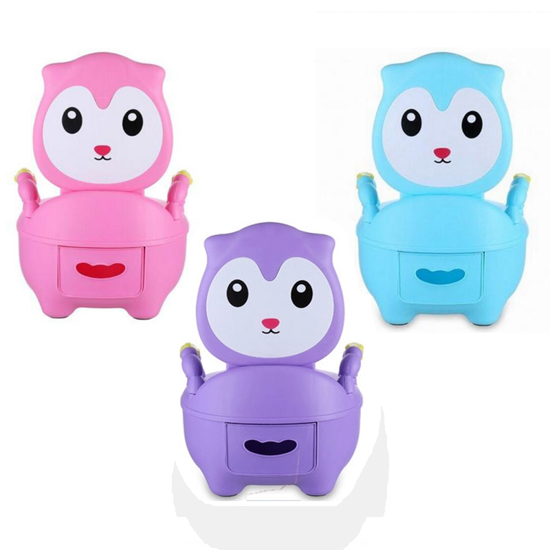 2018 New Cute Design Child Potty Chair Elf Design Potty Training Seat Baby Potty For Free Potty Brush