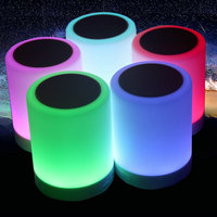 Jiaderui USB Table Lamp LED Baby Night Lights Touch Sensor With Smart Bluetooth Speaker Dimmable Color