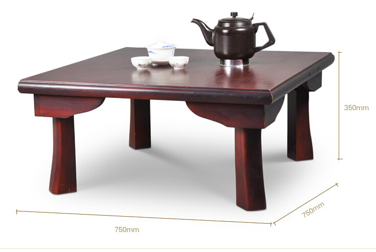 Asian Wood Furniture Japanese Dining Table Folding Legs Square 75cm Living Room Coffee For Tea Traditional Floor In Tables From
