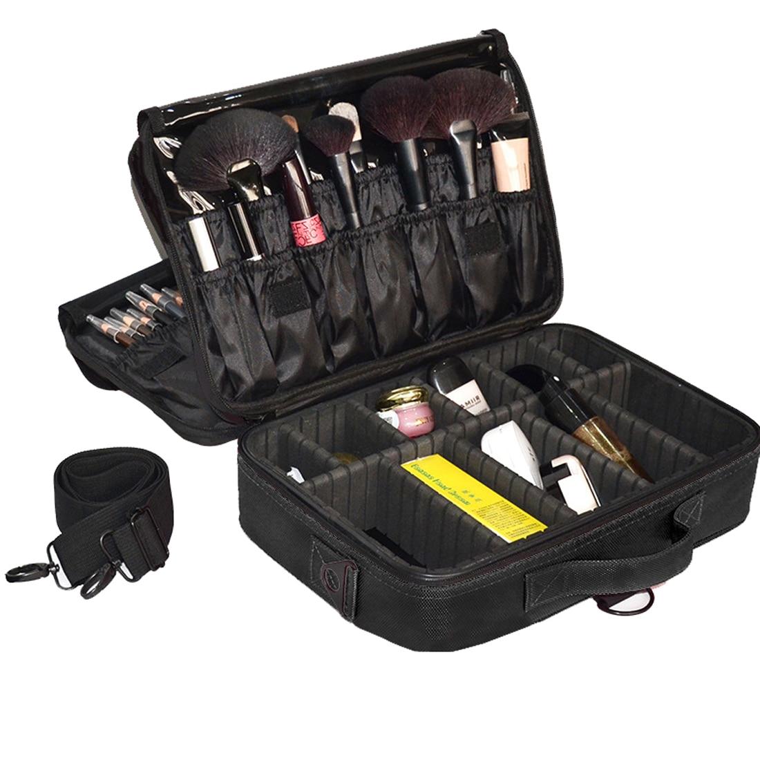 Makeup Bag Organizer Professional Makeup Artist Box Larger Bags Cute Korea Suitcase Makeup Suitcase Makeup Brushes Tools Case nyx professional makeup кейс визаж beginner makeup artist train case beginner