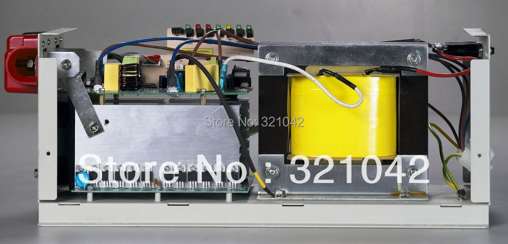 LCD display screen AP2000W peak power 6000W frequency pure sine wave inverter DC12V or 24V to AC220V 50HZ