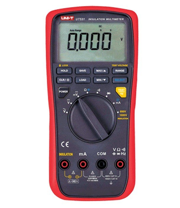 UNI-T UT531 LCD Insulation Digital Multimeter Volt Amp Ohm Capacitance Tester