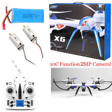 Free Shipping! JJRC H16 Tarantula X6 drone 4CH RC Quadcopter 2MP Cam Hyper IOC +2 Motor+Battery