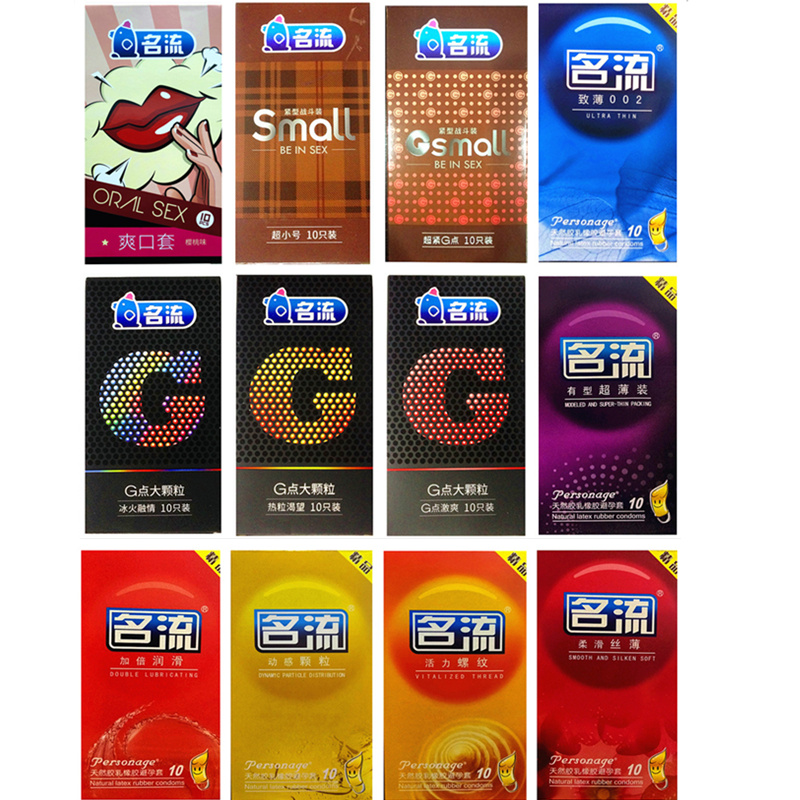 120 Pcs/Lot 12 Styles Brand Sex Safer Male Condoms Smooth Big Dots Ultra Slim Condoms for Men Natural Rubber Penis Sex Products