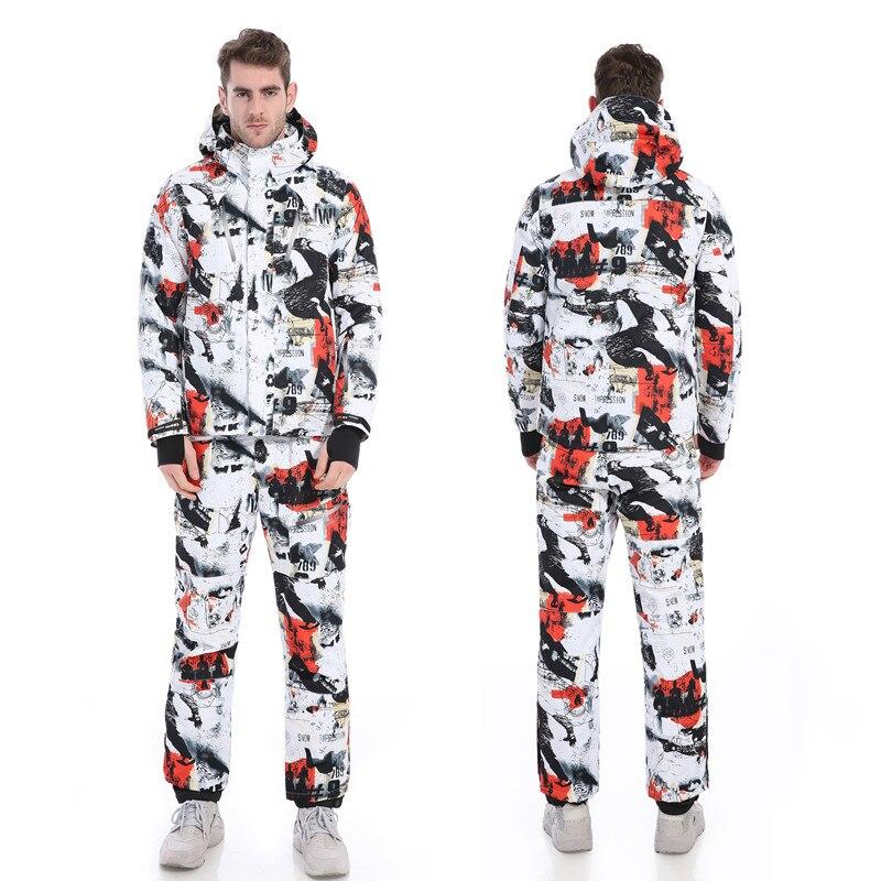 Бесплатная доставка! новинка 2018 г. мужские лыжные костюмы куртка + Штаны Для мужчин водонепроницаем, дышащий тепловой Cottom-мягкий сноуборд
