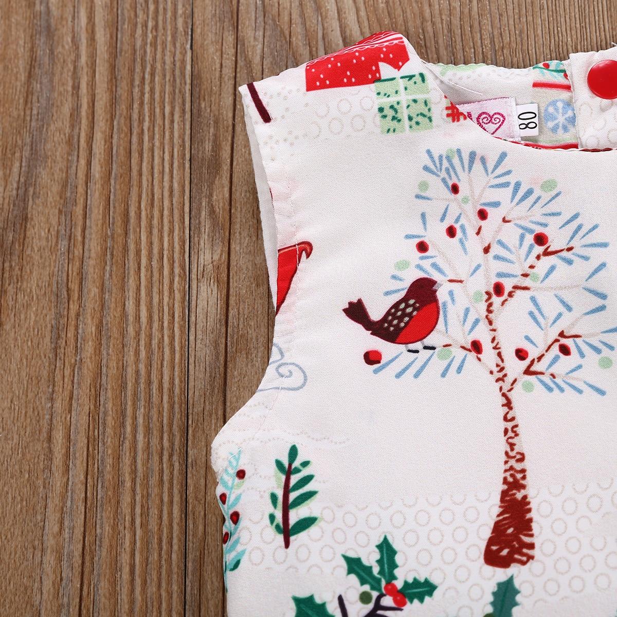 f008d15c4 2-6 Years Xmas Toddler Kid Baby Girl Christmas Cartoon Deer Sleeveless  Party Dress 2