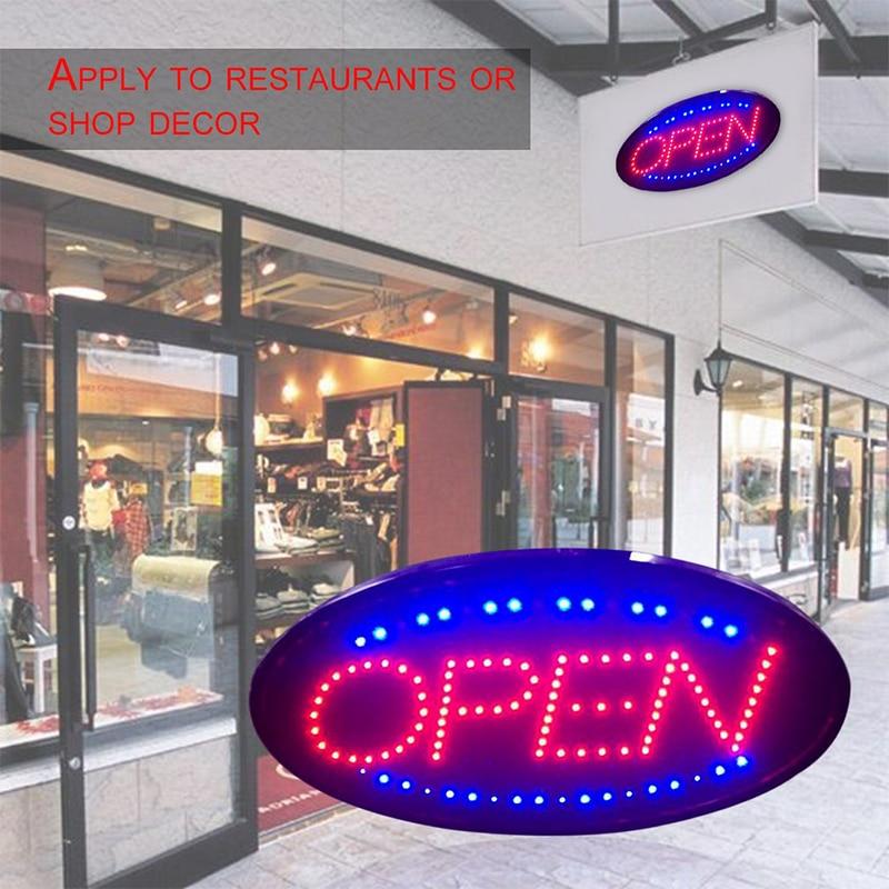 LED ouvert signe LED magasin néon commerce magasin ouvert publicité lumière 25X48 cm LED clignotant panneaux d'affichage magasin porte décor