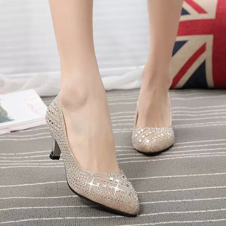 ФОТО The new shoes high heels women shoes autumn 2016 tide diamond wedding shoes pointed red nightclub, free shipping