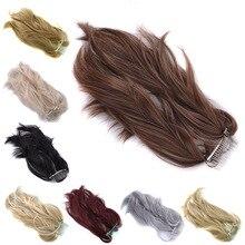 Gres натуральный волнистый высокотемпературный волокнистый блондин/черный хвостик с металлическим гребнем 30 м длина конский хвост для женщин хвосты пони