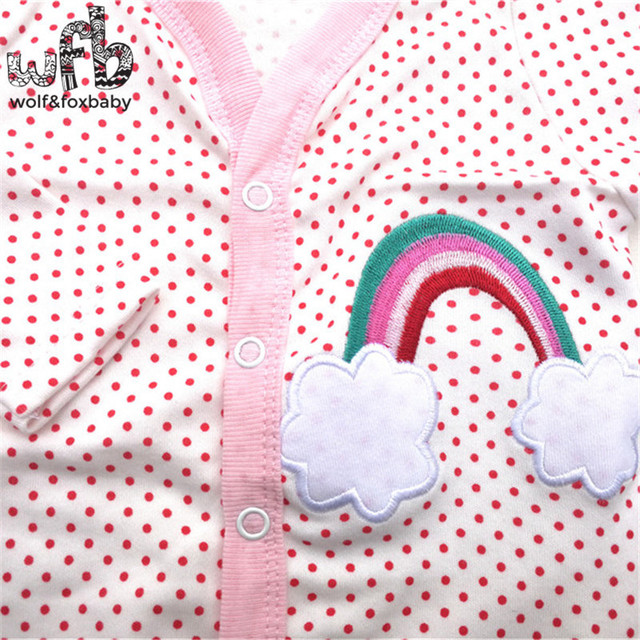 Retail 3pcs/pack 0-12months long-Sleeved Baby Infant cartoon footies for boys girls jumpsuits
