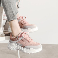 Women Casual Shoes Platform Sneakers Lace Up Tenis Feminino Casual Ladies Sneakers For Women Wedge Sneakers Shoes Woman