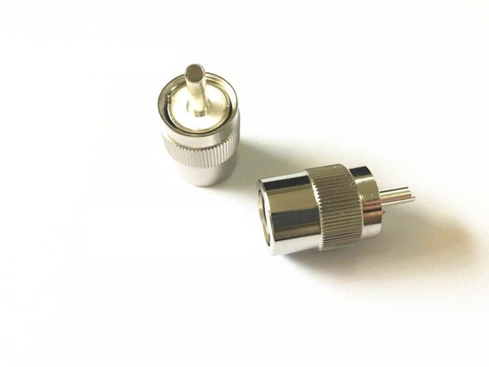 10-Pack BNC Male Crimp Solder Connector for RG58 RG142 RG400 LMR-195 LMR-200