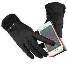 snowshine #1401 Women Lace Touch Screen Winter Soft Leather Mitten Gloves Warm Driving free shipping