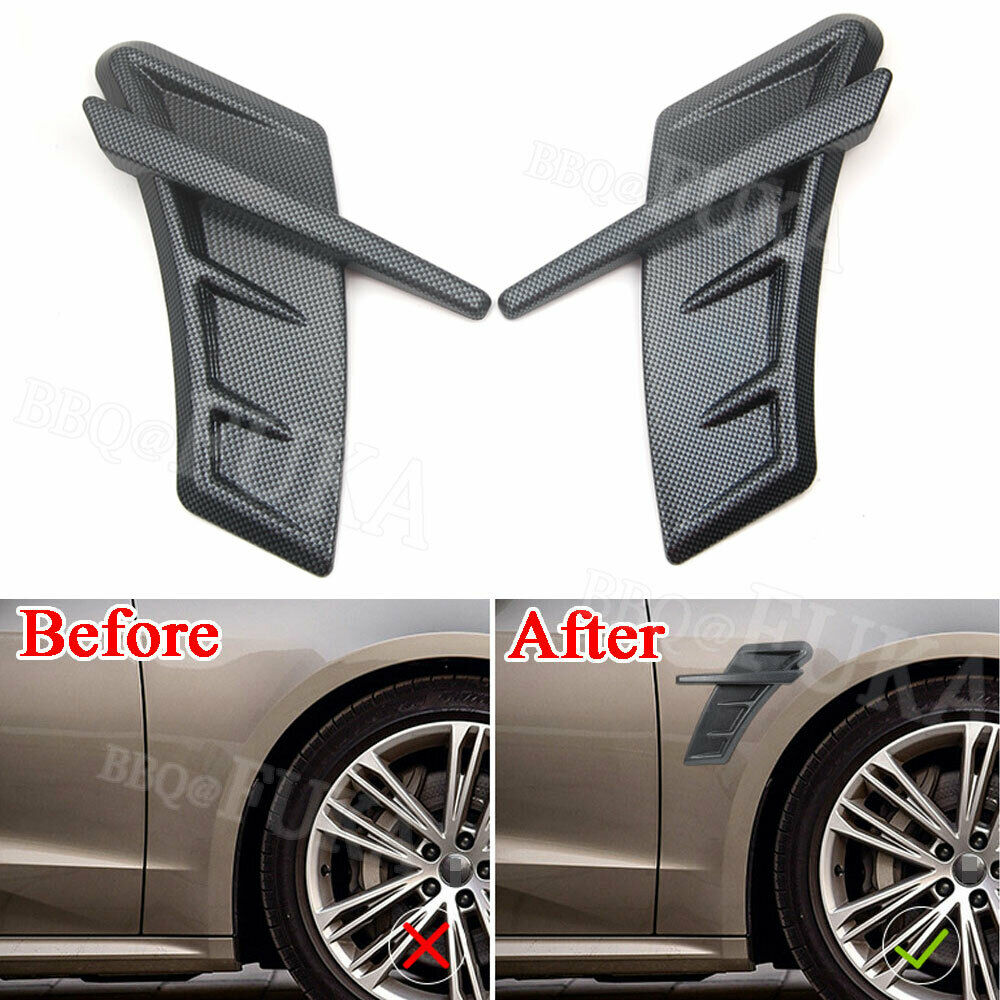 Carbon Fiber Side Wing Fender Air Vent Cover For Audi RS A3 A4L A6L A5 Q3 Q5 Q7