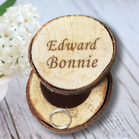 Chic Design Rustic Wedding Ring Box Holder Customized Memory Box Personalized Our Name High Quality Popular