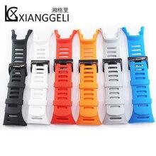 Купить с кэшбэком Pin buckle rubber strap for SUUNTO AMBIT1 2S 2R 3R 3S 3peak outdoor sports diving men's watch with clock accessories