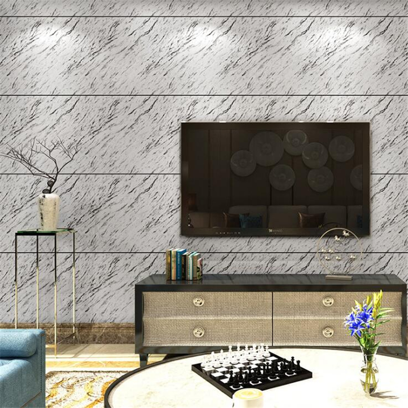 Beibehang épaississement 3D simulation marbre papier peint texture rock hôtel réception hall salon TV fond 3d papier peint