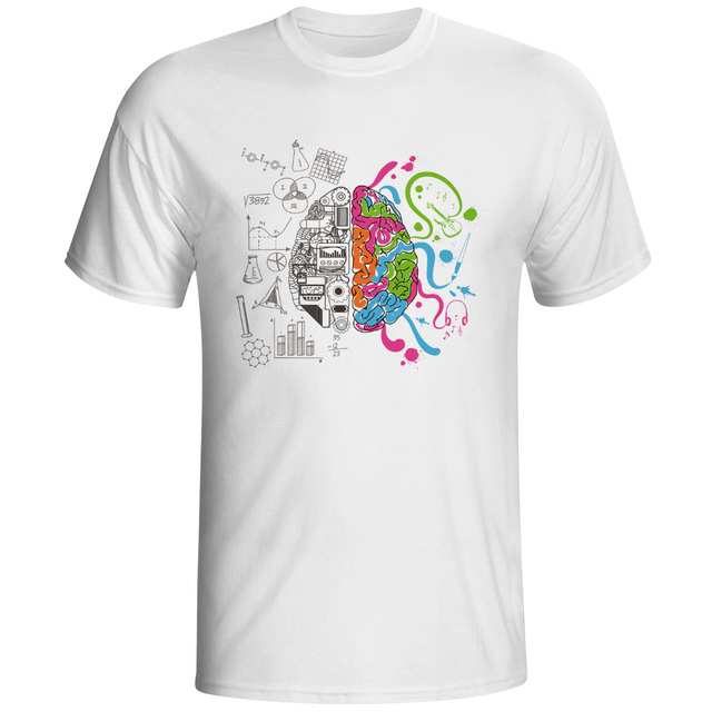 Left And Right Brain T Shirt Design Inspired By Geek T shirt Style ...