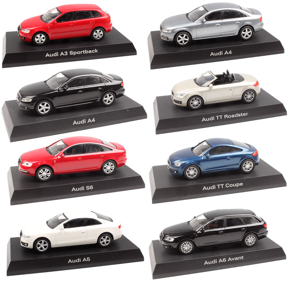 1:64 Scale Mini Kyosho A3 Sportback A4 Q7 A8 TT Coupe Roadster Diecast Model Toy Car & Vehicle Miniature For Children Collection