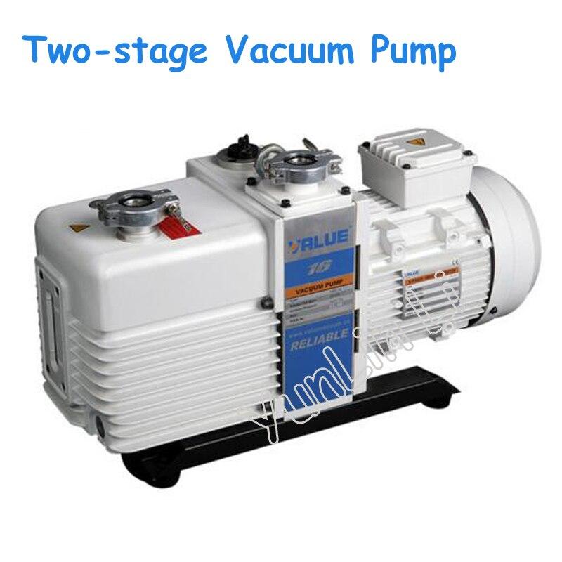 Pompe à vide à deux étages 220 V/380 V pompe à huile intégrale électrique à Double étage pompe à huile à vide à palettes rotatives VRD-16