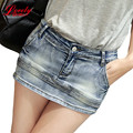 Women Skort Shorts 2016 Summer Fashion Style Sexy Ladies Shorts Skirt Plus Size Mini Skorts Female Blue Color Womens Short Jeans