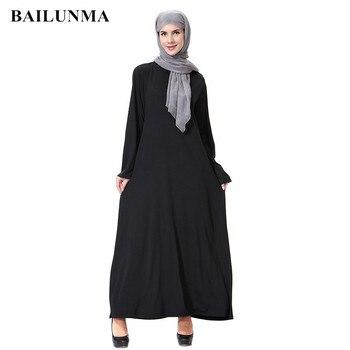 ed5a72c9b48 Мусульманская одежда для Дубай одежда мусульманская Абая кафтан Дубай  арабское платье НАМА elbisesi черный