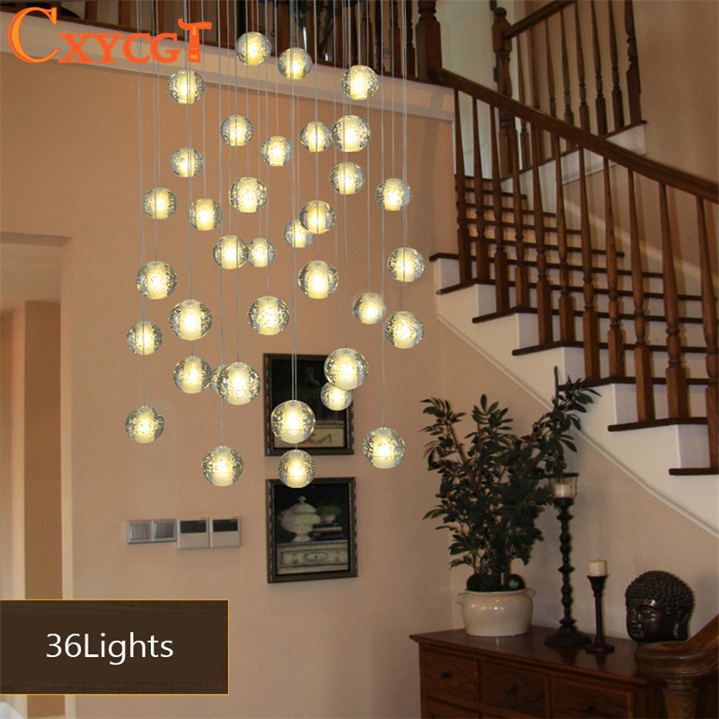 Superbe Modern LED Crystal Pendant Lights Fixtures Magic Crystal Ball Lustre Loft  Stairwell 12 Crystal Light Meteor Shower Crystal Lamp In Pendant Lights  From ...