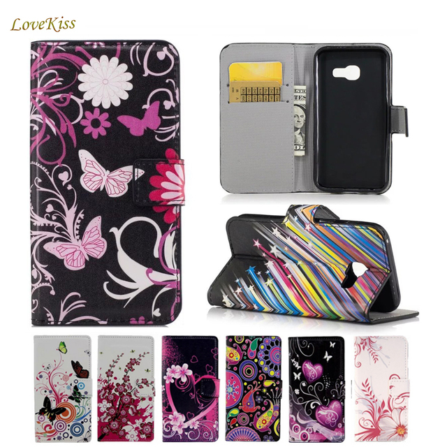 Flower Wallet Leather Phone Case For Samsung Galaxy Core Prime SM-G360H G360 G3606 Duos G361BT Cases TPU Holder Back Cover Bag