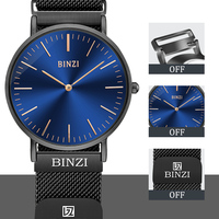 BINZI Mens Watches 2018 Waterproof Quartz Male Clock Luxury Brand Wrist Watch Wristwatches Creative Magnetic Relogio Masculino
